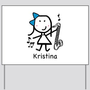 Bass Clarinet - Kristina Yard Sign